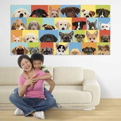Dog wall mural