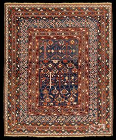 Ci-ci, Caucaso nord-orientale, area di Kuba, XIX secolo, lana su lana, 150 x 126…