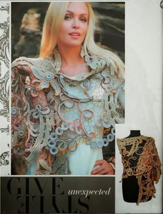 Irish crochet &: Capes Irish lace.