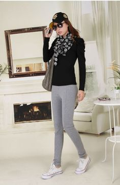 Fashion Slim Solid Legging for Women on BuyTrends.com, only price $12.00