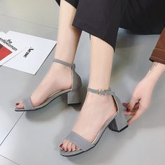 Heels Clothing, Shoes & Accessories Womens Ladies Black Low Block Heel Shoes Open Toe Strappy Buckle Sandals Size Cleaning The Oral Cavity.