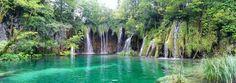 Waterfalls in Plitvice, Croatia