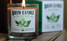 After a long day, nothing smells better than the citrusy aroma of a popped IPA or the warm and roasty scent of a heavy stout. Since sometimes we don't feel like drinking (mornings?), Brew Candles c...
