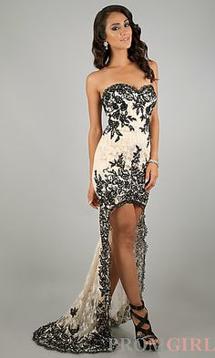 High Low Strapless Sweetheart Dress at PromGirl.com  ......Where was this when I had my prom??