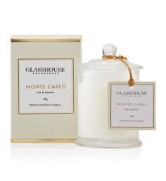 Glasshouse candle in 'Monte Carlo'. *BROUGHT*