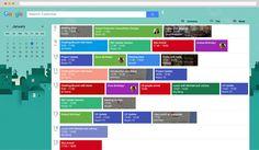 Google Web Calendar - Material Design • Brigi Virág