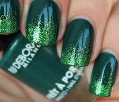 green nails - nail art