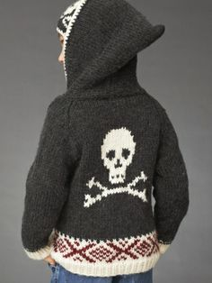 Skull Hoodie | Yarn | Free Knitting Patterns | Crochet Patterns | Yarnspirations