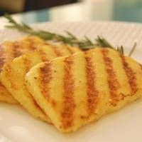 grilled polenta - grew up with this - my Italian gramma had it at EVERY meal with maple syrup in the am; red sauce at dinner - the best!