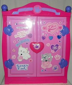 Build A Bear Beararmoire Fashion Case Pink and Purple Closet Wardrobe Accessory #BuildABearWorkshop