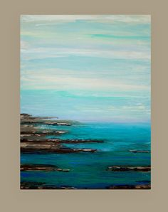 Art Abstract Beach Abstract Painting Original by OraBirenbaumArt
