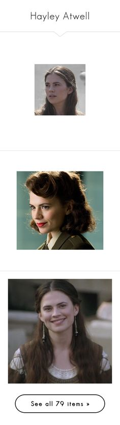 """Hayley Atwell"" by erintheartbtch ❤ liked on Polyvore featuring marvel, peggy carter, avengers, captain america, people, hayley atwell, agent carter, hair, icon and backgrounds"