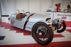Morgan re-powers its classically styled 3 Wheeler with a battery pack and electric drive to create the EV3. The new prototype utilizes the 3 Wheeler platform's lightweight construction for a peppy all-electric ride and range of 150 miles (241 km).