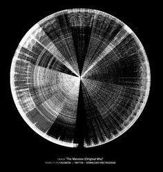 Spectogram: Visualizing #Music. Sound frequencies are displayed as they are heard. Lower frequencies are mapped low (bottom) to high (top). Brightness is determined by amplitude.