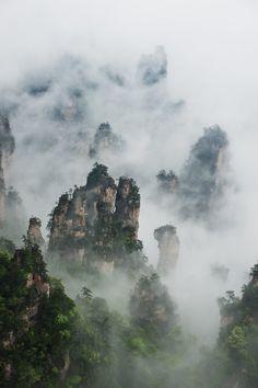 Beautiful Tianzi Mountains, China