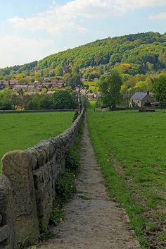 .... So many of these beautiful photos on Pinterest give me a sense of peace ... of walking quietly ... breathing in fresh air .... taking in the calm ... thinking good thoughts .... Two Dales, Darley Dale, Matlock, Derbyshire