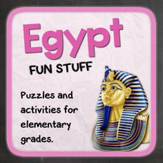 Egypt (Fun stuff for elementary grades) from Thematic Worksheets on TeachersNotebook.com -  (13 pages)  - Let's explore Egypt with puzzles and other fun activities. This supplemental resource is great for a country unit.