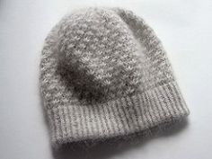 A little slouchy hat with lovely texture.