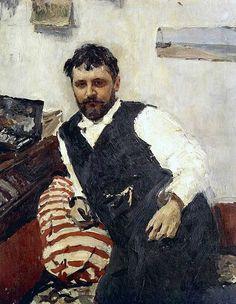 Portrait of artist Konstantin Alekseevich Korovin by Valentin Serov