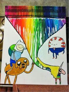 Lady Rainicorn crayon melt art. ^_^