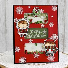 This oldie but goodie from is a classic. She used our Christmas Friends set in such a cute way! Pretty Pink Posh, Friends Set, Advent Calendar, Merry Christmas, Card Making, Photo And Video, Holiday Decor, Drawings, Classic