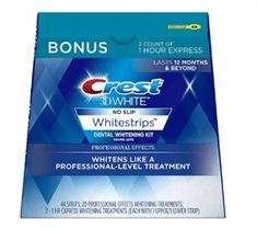 Crest White Professional Effects Whitestrips Whitening Strips Kit, 22 Treatments, 20 Professional Effects + 2 1 Hour Express Whitestrips - Tooth Decay Best Teeth Whitening Kit, Teeth Whitening Remedies, Natural Teeth Whitening, Skin Whitening, Crest 3d White, Dental Teeth, Dental Implants, Dental Care, Dental Hygienist