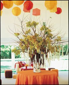 really cool table-seating number idea for weddings!