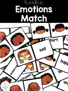 Emotions Match for Special Education FREE This freebie is great for use in the sped classroom where you want to work on matching for your independent work systems center. Emotions Preschool, Emotions Activities, Special Education Activities, Free Education, Special Education Classroom, Speech Therapy Activities, Preschool Centers, Preschool Kindergarten, Preschool Learning