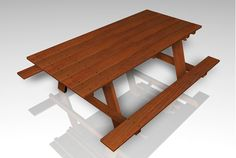 Buy a 3D woode picnic table furniture model in FBX 3D format that works with most 3D modeling software.