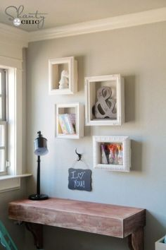 Frames are obviously a go-to for displaying photos, but they can do way more than that. In this project, blogger Shanty 2 Chic turned old frames into storage shelves that doubled as wall decor. This storage solution is also surprisingly simple. All she had to do was make a box from wooden panels and glue it on the frame. Get the tutorial at Shanty 2 Chic.