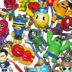 These are super cool. I love them and have Captain America with the burger. #geek #tokidoki #marvel #toys #thinkgeek