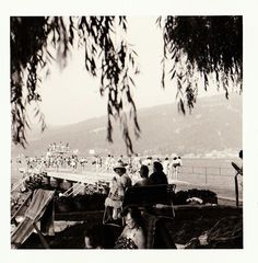 """Vintage 1960s B&W Photo Snapshot Swimmers Pier Diving Europe 3.5"""" x 3.5"""""""