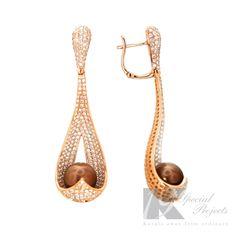 Global Wealth Trade Corporation - FERI Designer Lines Girls Jewelry, Jewelry Art, Jewelry Design, Designer Jewelry, Chocolate Pearls, I Love Chocolate, 3 Carat, Luxury Jewelry, Or Rose