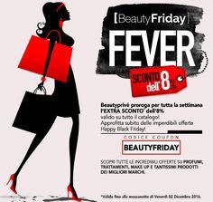 BEAUTY BLACK FRIDAY!!!!  IN OCCASIONE DEL BLACK FRIDAY BEAUTYPRIVE PROROGA PER TUTTA LA SETTIMANA L'EXTRA SCONTO DELL'8%!!!!  Codice Coupon: BEAUTYFRIDAY  #Beautyprivè #beautyfriday #blackfriday #beauty #bellezza #profumi #cosmesi #makeup #accessori #haircare #Beautypriveofferte #Beautyprivesconti #Beautyprivetopseller #shopping #shoponline