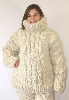 100 % Wolle Herren Pullover mit Rollkragen, Woll Pullover, Dicke weiche Pullover handgestrickt viele Farben, jeder Größe