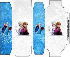 Caixa Sabonete Frozen Azul e Branco: