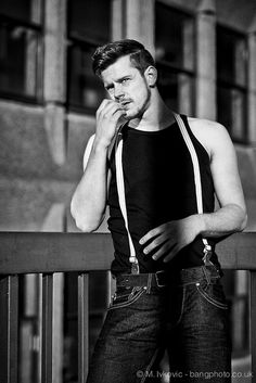 rockabilly... I'd nix the suspenders, but the dark-wash jeans + tank combo = drool.