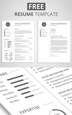 Free Minimalistic CV/Resume Templates With Cover Letter Template   5  What Is Cv Resume