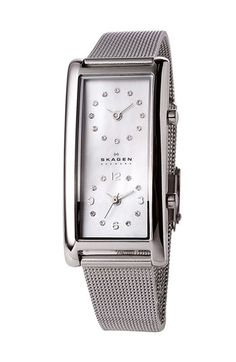 Skagen Ladies' Dual Time Watch with Mesh Band | Nordstrom