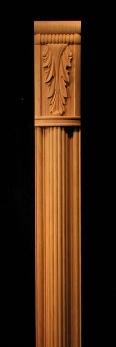 A pilaster configuration featuring the Acanthus Capital (CAP-ACA) and a reeded pilaster with Stacked Coins plinth (PL-COIN).  This combination...