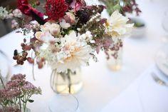 Wedding Ideas: white-red-flower-amy-merrick