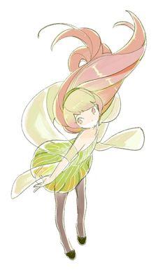 Watercolor fairy