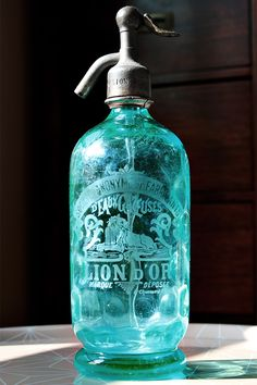 Siphon du Lion d'or Siphon bleu turquoise alvéolé