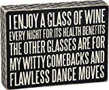 Early Bird Special: Primitives by Kathy Glass of Wine for Health Box Sign  Primitives Kathy Glass Wine Health  Expires Feb 11 2018