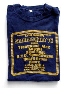 Vintage Summerjam '76 T-Shirt- Fleetwood Mac, Heart, Kansas, REO Speedwagon, ...