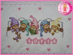 Cross Stitch For Kids, Cute Cross Stitch, Cross Stitch Animals, Cross Stitch Charts, Cross Stitch Patterns, Diy And Crafts, Arts And Crafts, Bebe Baby, Bargello