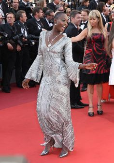 Miriam Odemba attends the Closing Ceremony during the 70th annual Cannes Film Festival at Palais des Festivals on May 28 2017 in Cannes France
