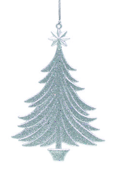Silver Glittered Acrylic Christmas Tree Ornament #ukchristmasworld #barnsley #christmas #decoration #festive #hanging #christmastree #display http://www.ukchristmasworld.com/Shop/Christmas-Tree-Decorations/Christmas-Tree-Decorations/5190-Silver-Glittered-Acrylic-Christmas-Tree-Ornament.html