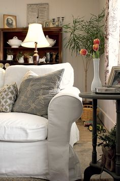 White Sofa Living Room Pictures Of Wood Floors In Rooms 210 Best Color The Images Sweet Home Decor Creek Line House Tour