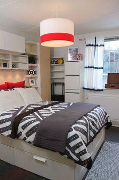 Cute Inspiring Farmhouse Bedroom Design Ideas for your Kid's Ikea Home Tour, Maple Furniture, Apartment Guide, Apartment Ideas, Ikea Design, Ikea Bedroom, Bedroom Ideas, Living Room Inspiration, Home Furnishings
